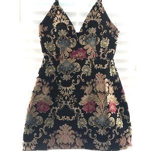 Embroidered mini dress